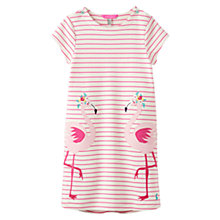 Buy Little Joule Girls' Kaye Flamingo Print Dress, Pink Online at johnlewis.com