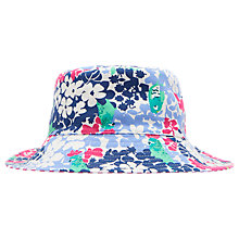 Buy Little Joules Children's Mirabelle Bow Fold Away Hat, Multi Online at johnlewis.com