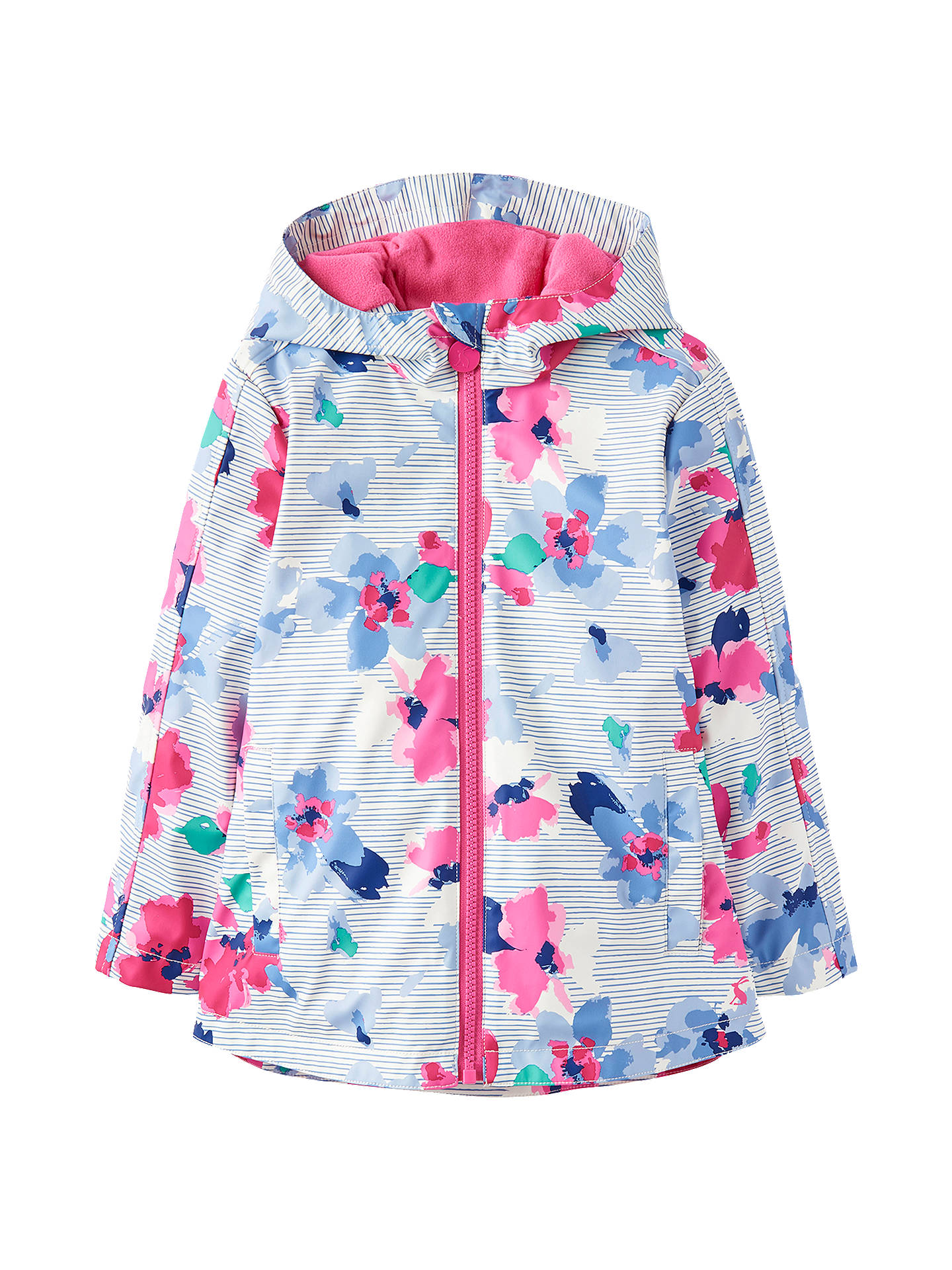 efdd7bcf6708 Little Joule Girls  Rain Dance Floral Stripe Coat