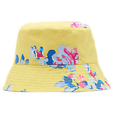 Buy Little Joules Children's Sun Seeker Reversible Hat, Yellow/Blue Online at johnlewis.com