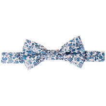 Buy John Lewis Heirloom Collection Boys' Floral Bow Tie, Blue/White Online at johnlewis.com