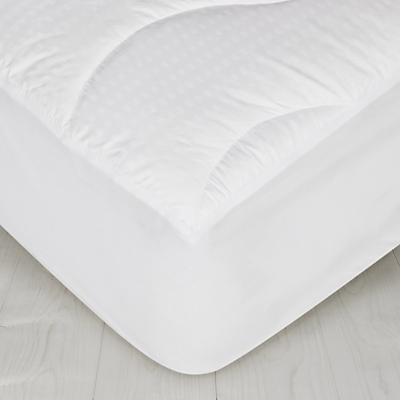 John Lewis Synthetic Collection Breathable Microfibre Mattress Enhancer