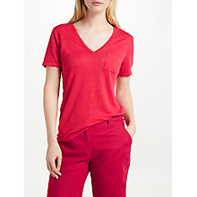 Buy John Lewis V-Neck Linen Jersey T-Shirt Online at johnlewis.com