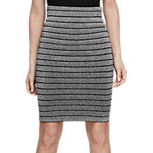 Buy Reiss Metallic Pencil Skirt, Silver Online at johnlewis.com