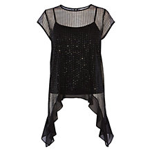 Buy Coast Nessa Sequin Top, Black Online at johnlewis.com