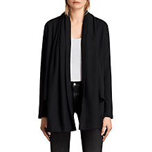 Buy AllSaints Saffi Cotton Cardigan, Black Online at johnlewis.com
