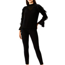 Buy Coast Sol Ruffle Top, Black Online at johnlewis.com