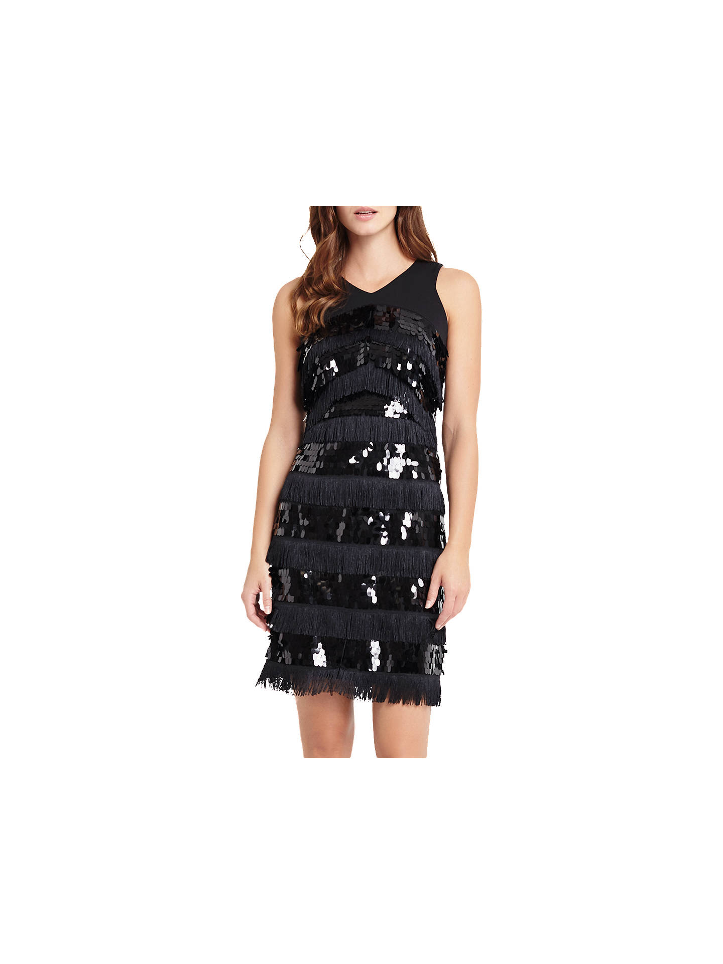 727aadb2 Buy Phase Eight Becca May Sequin Dress, Black, 6 Online at johnlewis.com ...