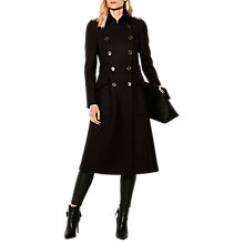 Buy Karen Millen Military Coat, Navy Online at johnlewis.com