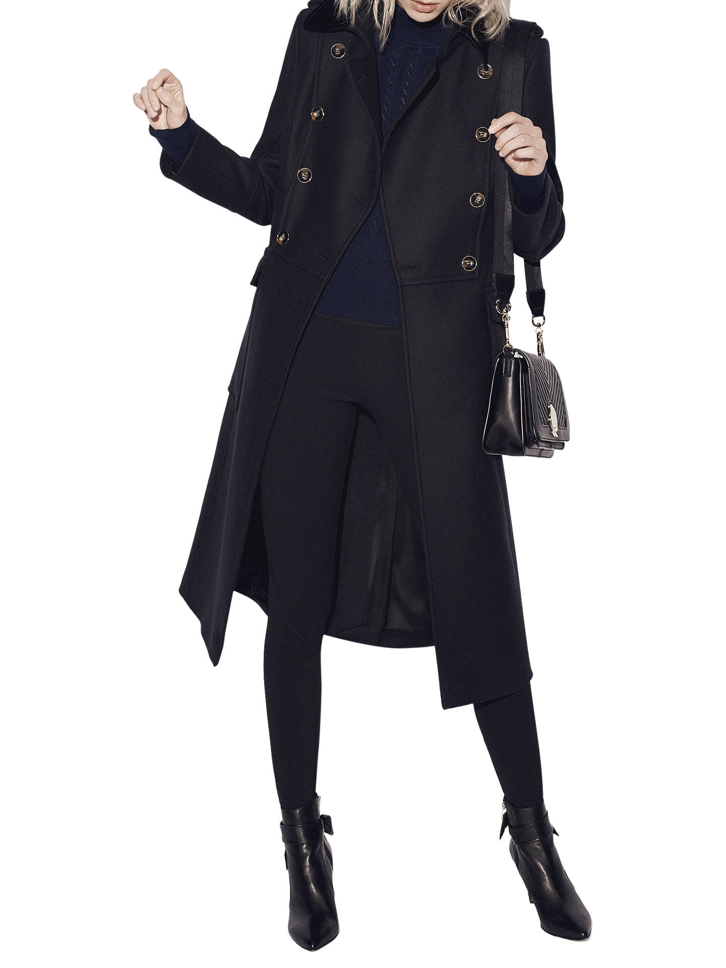BuyKaren Millen Military Coat, Navy, 8 Online at johnlewis.com