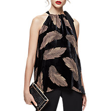 Buy Reiss Essie Feather Print Top, Multi Online at johnlewis.com