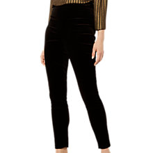 Buy Karen Millen Velvet High Waisted Trousers, Black Online at johnlewis.com