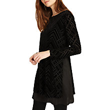Buy Phase Eight Tami Tabard Burnout Tunic Dress, Black Online at johnlewis.com