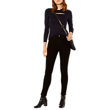 Buy Karen Millen Slash Detail Ponte Top, Navy Online at johnlewis.com