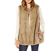 Buy Karen Millen Luxury Faux Fur Gilet, Neutral Online at johnlewis.com