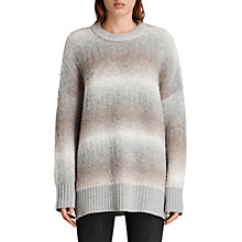 Buy AllSaints Ikarus Crew Neck Jumper, Taupe Marl Online at johnlewis.com