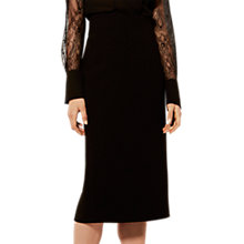 Buy Karen Millen Tailored Pencil Skirt, Black Online at johnlewis.com
