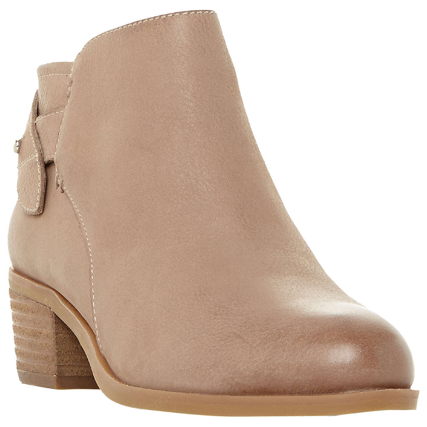 BuySteve Madden Nicola Block Heel Ankle Boots, Taupe Leather, 3 Online at  johnlewis.