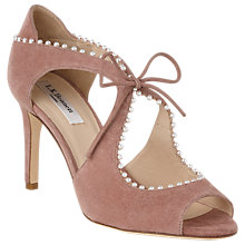 Buy L.K. Bennett Ellena Stiletto Heel Open Toe Court Shoes Online at johnlewis.com