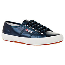 Buy Superga 2750 Cotu Classic Trainer Plimsolls, Blue Metallic Online at johnlewis.com
