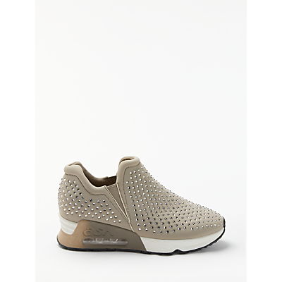 Ash Lifting Studded Pull On Trainers, Taupe