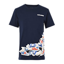 Buy Converse Boys' Chuck Pile T-Shirt, Obsidian Online at johnlewis.com