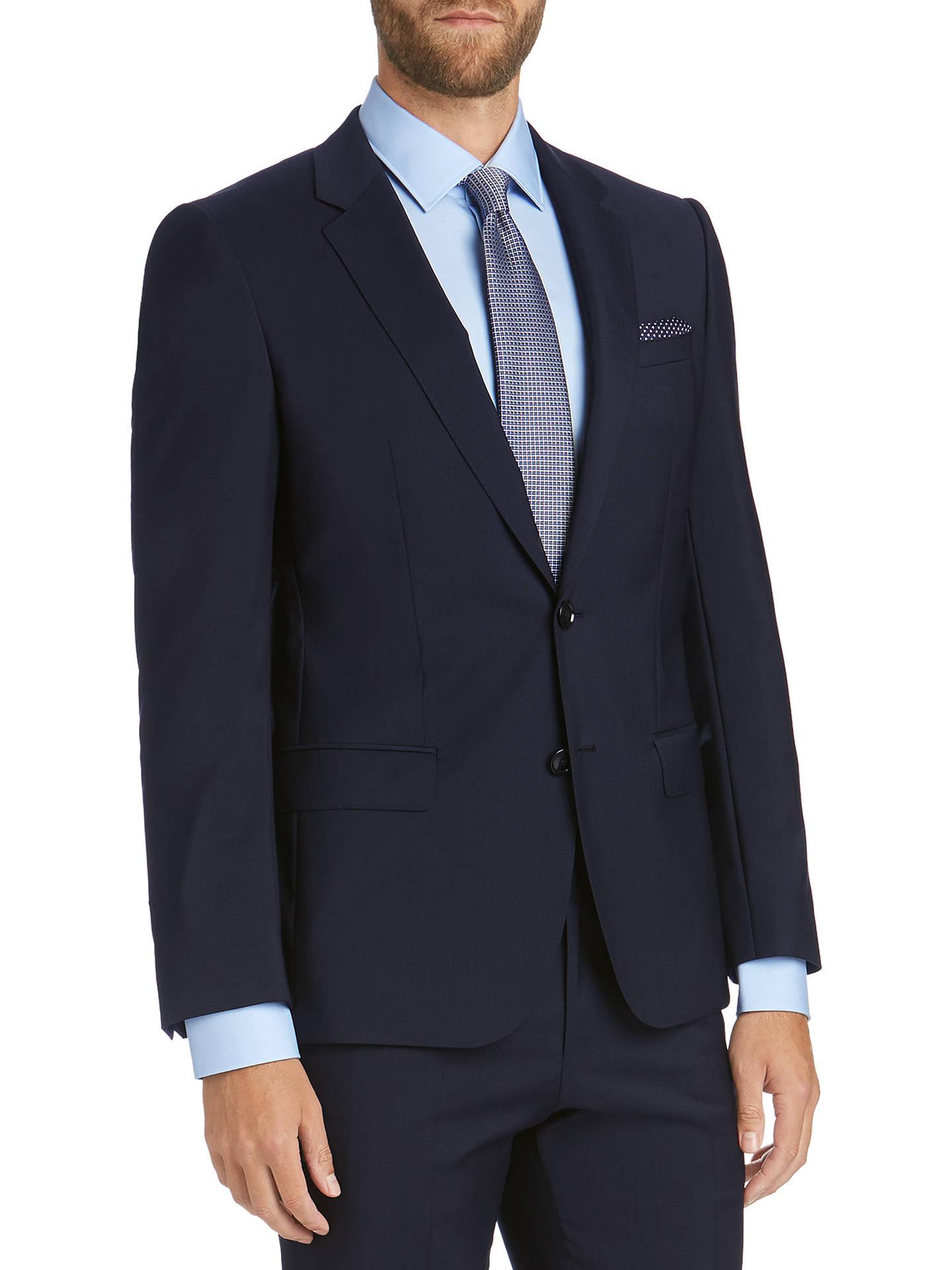 186d79343 Buy HUGO by Hugo Boss Virgin Wool Slim Fit Suit Jacket, Navy, 34R Online ...