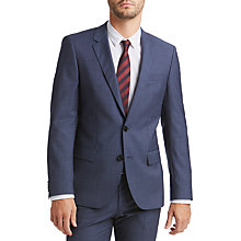 Buy HUGO by Hugo Boss C-Huge Birdseye Slim Fit Suit Jacket, Dark Blue Online at johnlewis.com