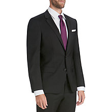 Buy HUGO by Hugo Boss Virgin Wool Slim Fit Suit Jacket, Black Online at johnlewis.com