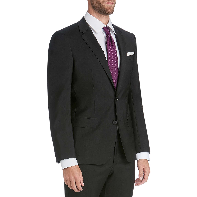 BuyHUGO by Hugo Boss Virgin Wool Slim Fit Suit Jacket, Black, 34R Online at  ...