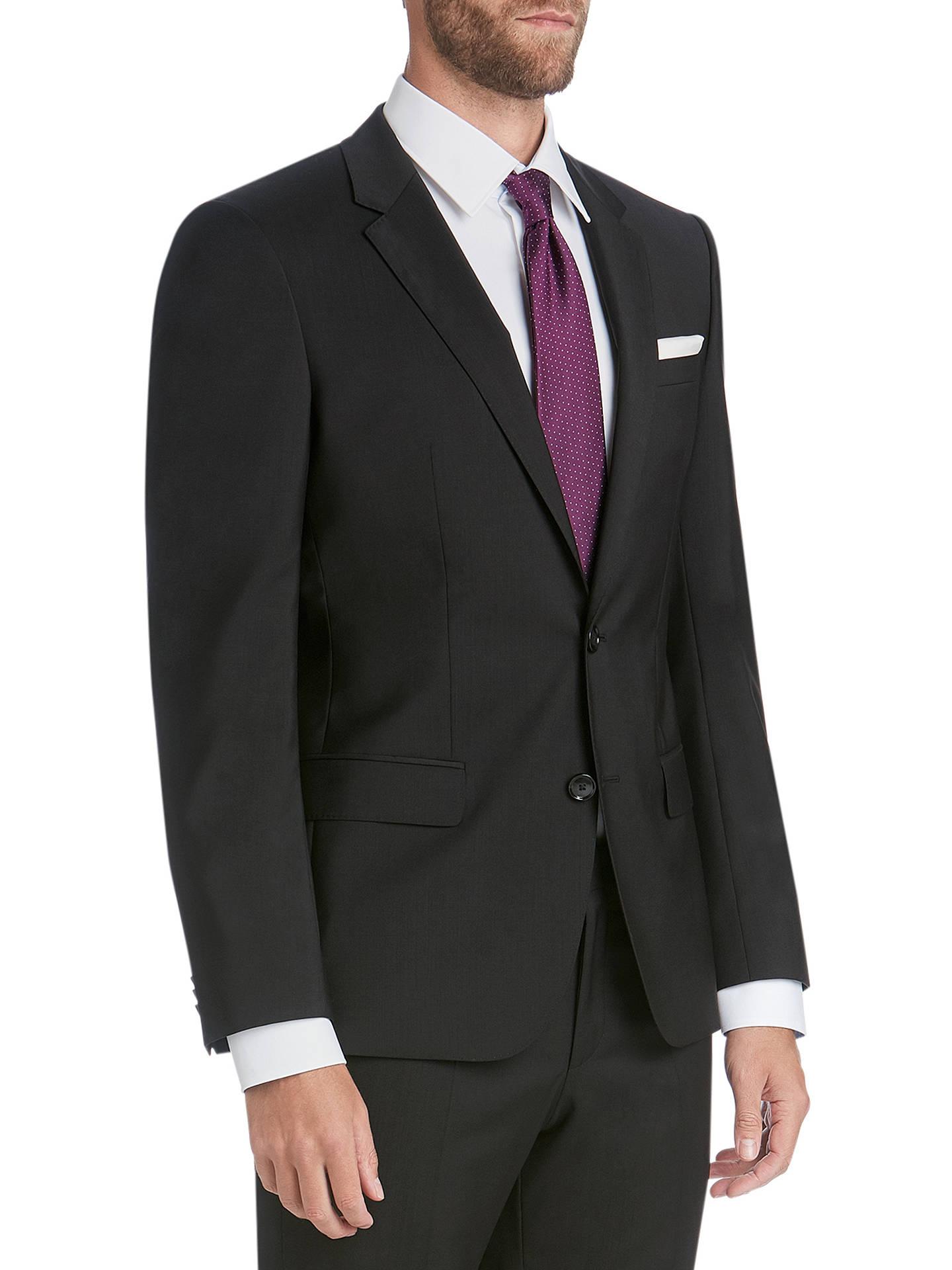 dfe4bdd27 Buy HUGO by Hugo Boss Virgin Wool Slim Fit Suit Jacket, Black, 34R Online  ...