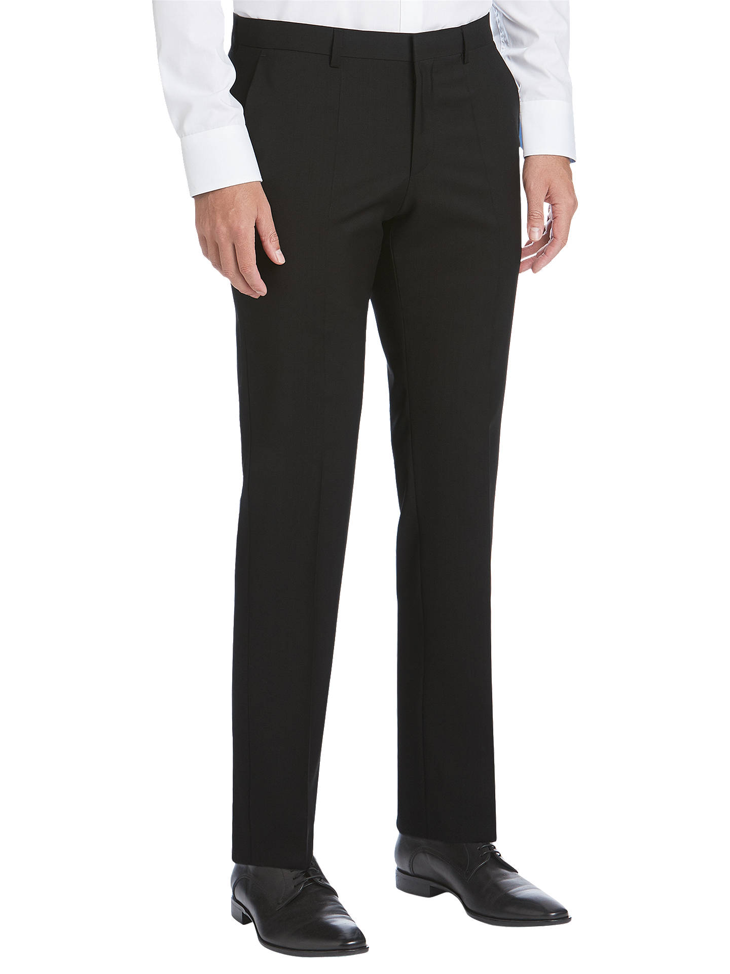8b1e77b0592 HUGO by Hugo Boss Virgin Wool Slim Fit Suit Trousers, Black