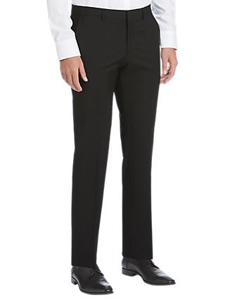 HUGO by Hugo Boss Virgin Wool Slim Fit Suit Trousers, Black