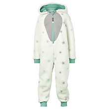 Buy Fat Face Children's Arctic Fox Fleece Onesie, Ecru Online at johnlewis.com