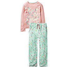Buy Fat Face Children's Arctic Fox Pyjamas, Aqua/Pink Online at johnlewis.com