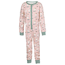 Buy Fat Face Children's Deer Jersey Onesie, Raspberry Online at johnlewis.com