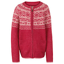 Buy Fat Face Girls' Fairisle Zip Through Cardigan Online at johnlewis.com