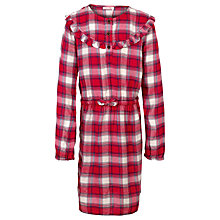 Buy Fat Face Girls' Esme Check Dress, Red Online at johnlewis.com