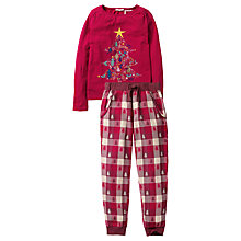Buy Fat Face Children's Festive Christmas Tree Print Pyjamas, Red Online at johnlewis.com