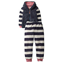 Buy Fat Face Children's Lemur Fleece Twosie Pyjamas, Blue/White Online at johnlewis.com