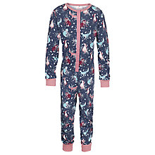 Buy Fat Face Children's Fox Jersey Onesie, Blue Online at johnlewis.com