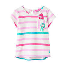 Buy Little Joule Girls' Maggie Poodle T-Shirt, Pink/Multi Online at johnlewis.com