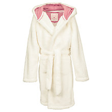 Buy Fat Face Children's Llama Robe, Natural/Pink Online at johnlewis.com