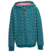 Buy Fat Face Girls' Star Zip Through Hoodie, Teal Online at johnlewis.com
