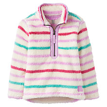 Buy Little Joule Girls' Merridie Stripe Fleece, Multi Online at johnlewis.com