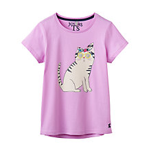 Buy Little Joule Girls' Pixie Cat Top, Mauve Online at johnlewis.com