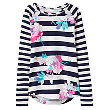 Buy Little Joule Girls' Floral Top, Blue/Multi Online at johnlewis.com