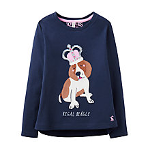 Buy Little Joule Girls' Ava Dog Top, Navy Online at johnlewis.com