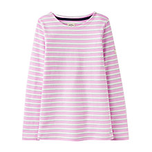 Buy Little Joule Girls' Harbour Stripe T-Shirt, Pink Online at johnlewis.com