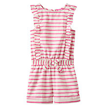 Buy Little Joule Girls' Elle Frilled Playsuit, Pink Online at johnlewis.com